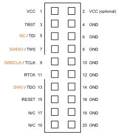 20-Pin ARM JTAG Connector