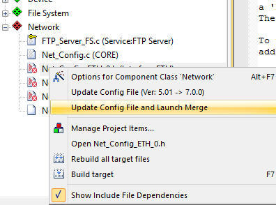Configuration File Update