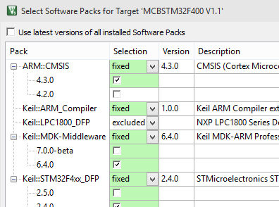 Select Software Packs